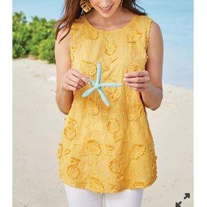 Soft Surroundings • New yellow sleeveless top